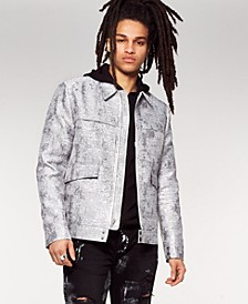 INC Men's Onyx Jackson Brocade Bomber Jacket, Created for Macy's