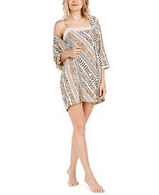 Shiloh Slinky Printed Wrap Robe