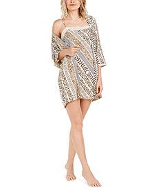 Josie Shiloh Slinky Printed Wrap Robe