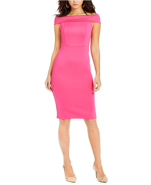 Thalia Sodi Off-The-Shoulder Bodycon Dress, Created for Macy's