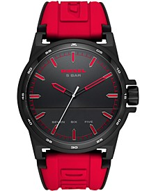 Men's Tough Guy Red Silicone Strap Watch 48mm