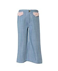 Toddler Girls Tencel Wide Leg Pant