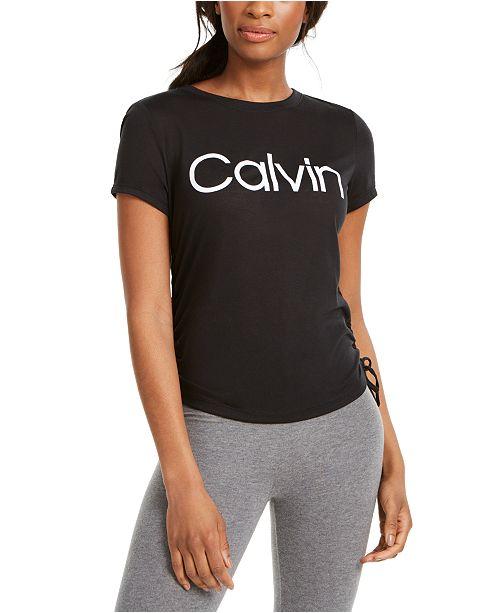 Calvin Klein Logo Ruched T-Shirt