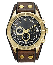 INC Men's Brown Cuff Strap Watch 48mm, Created for Macy's