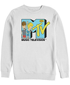 Men's Beavis and Butthead in Logo Crewneck Fleece