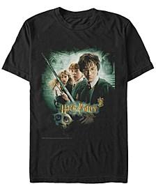 Harry Potter Men's Chamber of Secrets Ron Harry Hermione Dobby Poster Short Sleeve T-Shirt