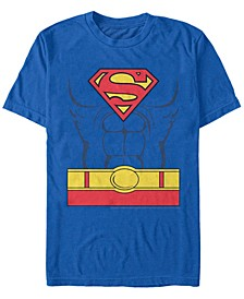 DC Men's Superman Costume Short Sleeve T-Shirt