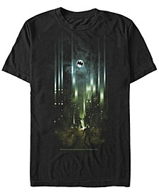 DC Men's Batman City Bat Logo Spotlight Short Sleeve T-Shirt