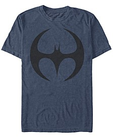 DC Men's Batman Round Bat Logo Short Sleeve T-Shirt