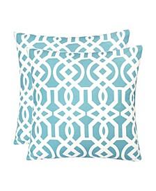 Outdoor Pillow Cover, Lattice Trellis - Set of 2