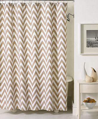 Chevron Shower Curtains kassatex bath accessories, chevron shower curtain - shower