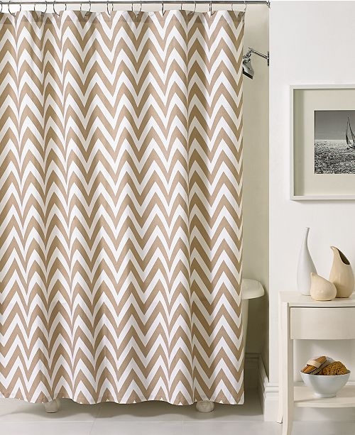Kassatex Bath Accessories Chevron Shower Curtain