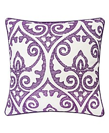 Aria Swirls Square Decorative Throw Pillow
