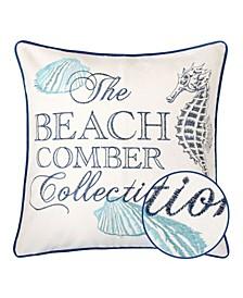 Beach Square Decorative Throw Pillow