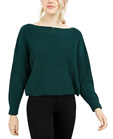 Millie Mozart Cotton Boat-Neck Sweater