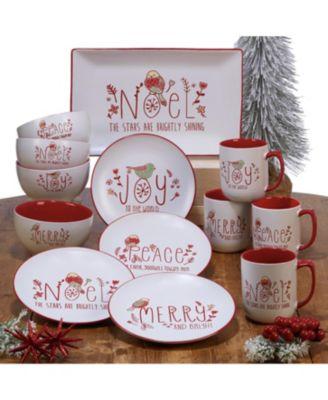 Holiday Greetings 4-Pc. Dessert Plates