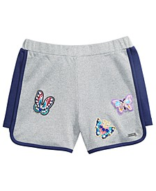 Big Girls Butterfly-Appliqué Active Shorts