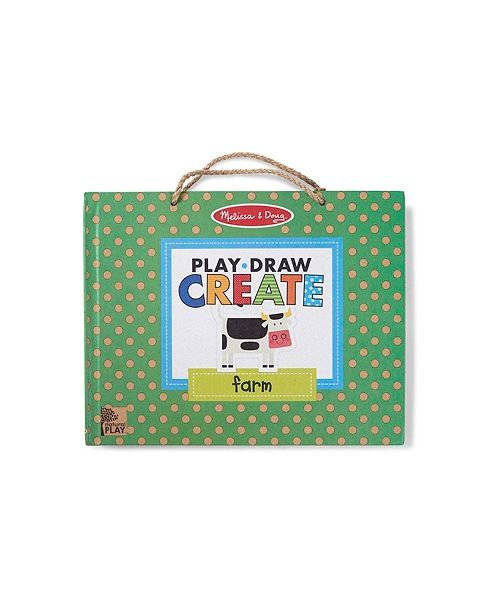 Melissa Doug Natural Play Play Draw Create Reusable Drawing Magnet Kit Farm 38 Magnets 5 Dry Erase Markers
