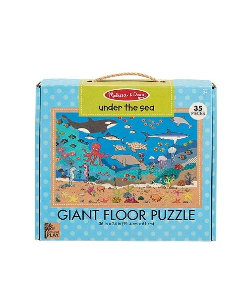 Melissa and Doug Melissa Doug Natural Play Giant Floor Puzzle: Under the Sea 35 Pieces