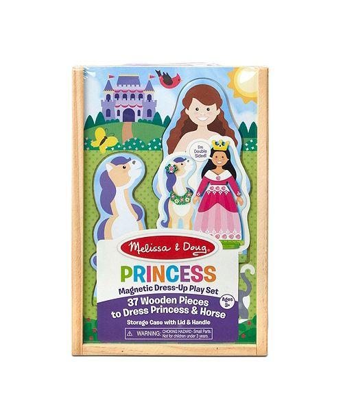 Melissa and Doug Melissa Doug Princess Horse Magnetic Dress-Up Wooden Dolls Pretend Play Set 35 pcs