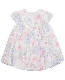 Baby Girls Floral-Lace Rosette Dress, Created for Macy's