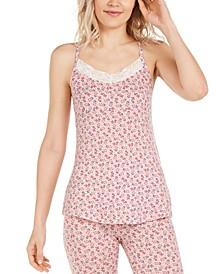 Capulet Floral-Print Lace-Trim Cami Pajama Tank Top