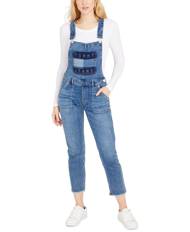 Tommy Jeans Logo Denim Overalls
