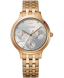 Women's Rose Gold-Tone Stainless Steel Bracelet Watch 33mm