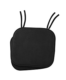 Non Slip Memory Foam Seat Cushion Chair Pads With Ties - Set of 2