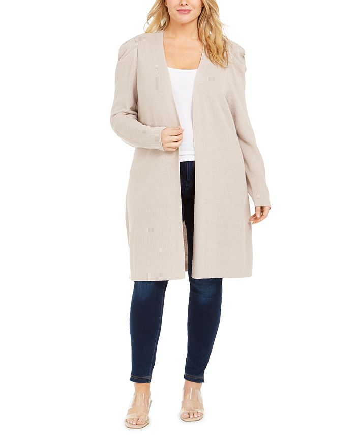 INC International Concepts - Plus Size Puff-Sleeve Completer Cardigan
