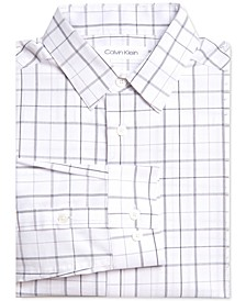 Big Boys Stretch Plaid Dress Shirt