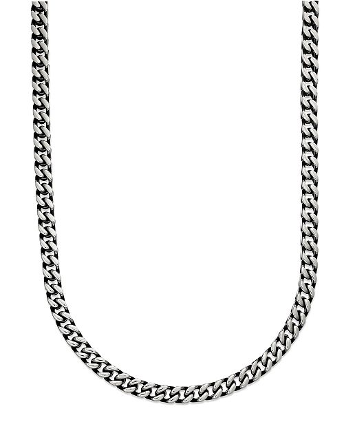 eb9ad7d518484 Macy's Men's Black Ion Plated Stainless Steel Necklace, 24