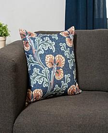Jacobean Print Decorative Throw Pillow