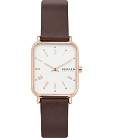 Women's Ryle Brown Leather Strap Watch 28mm