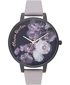 Women's Fine Art Lilac Leather Strap Watch 38mm