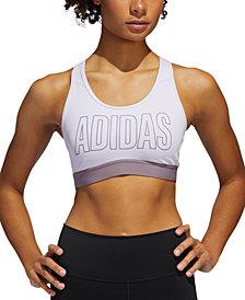 adidas Women's Power Mesh Compression Mid-Impact Sports Bra