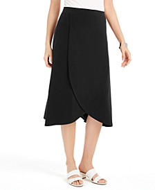 Solid Tulip-Hem Skirt, Created for Macy's