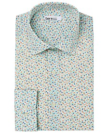 Men's Slim-Fit Performance Stretch Micro-Floral Print Dress Shirt, Created for Macy's