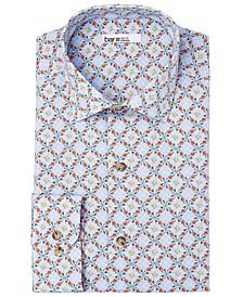 Men's Organic Cotton Slim-Fit Vine Tile Dress Shirt, GOTS Certified, Created for Macy's