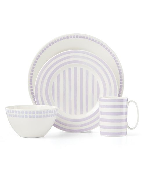 kate spade new york Charlotte Street Lilac North 4 Piece Place Setting