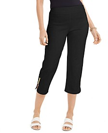 Embellished-Cuff Capri Pants, Created For Macy's