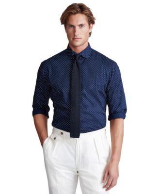 Men's Classic-Fit Dot Poplin Shirt