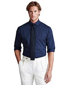 Men's Big & Tall Dot Poplin Shirt