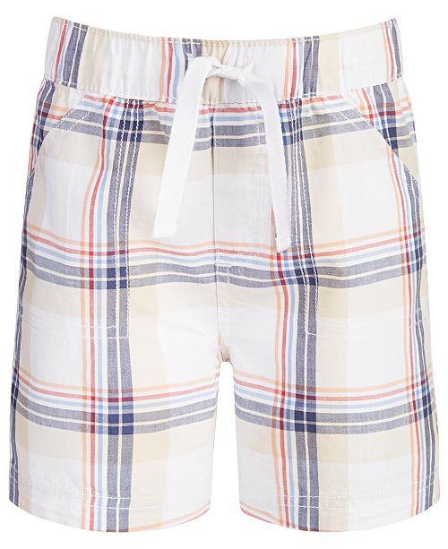 First Impressions Toddler Boys Plaid Cotton Shorts, Created for Macy's