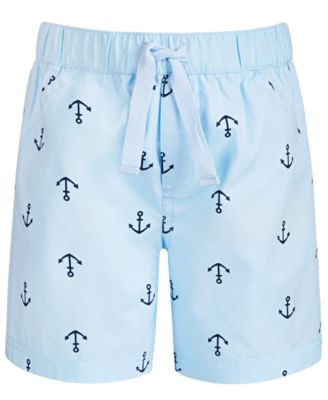 Baby Boys Anchor-Print Cotton Shorts, Created for Macy's