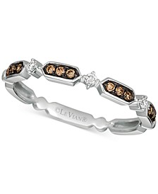 Chocolatier® Diamond Band (1/10 ct. t.w.) in 14k White Gold