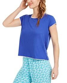 Contrast-Stitch Pajama T-Shirt