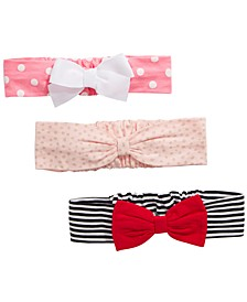 Baby Girls 3-Pk. Cotton Headbands, Created for Macy's