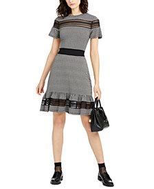 Michael Michael Kors Checkered Dress, Regular & Petite