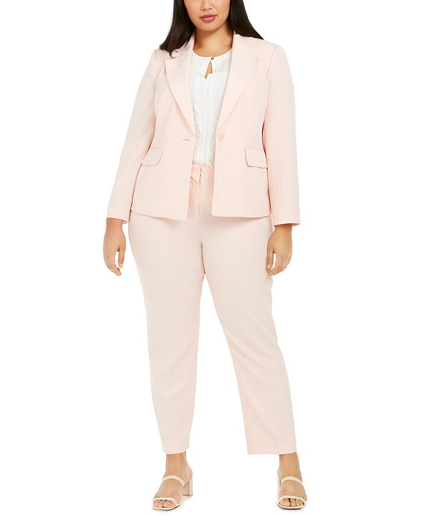 Le Suit Plus Size Pants Suit